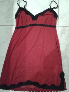 nuisette rouge/noire transparente